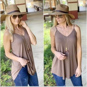 Mocha Sleeveless Tunic
